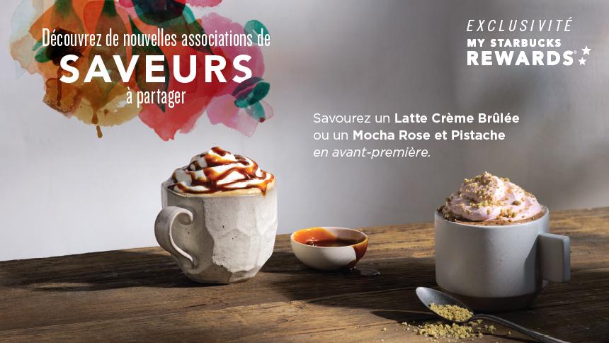 Les nouveautés Starbucks en France avec un latte & un moka