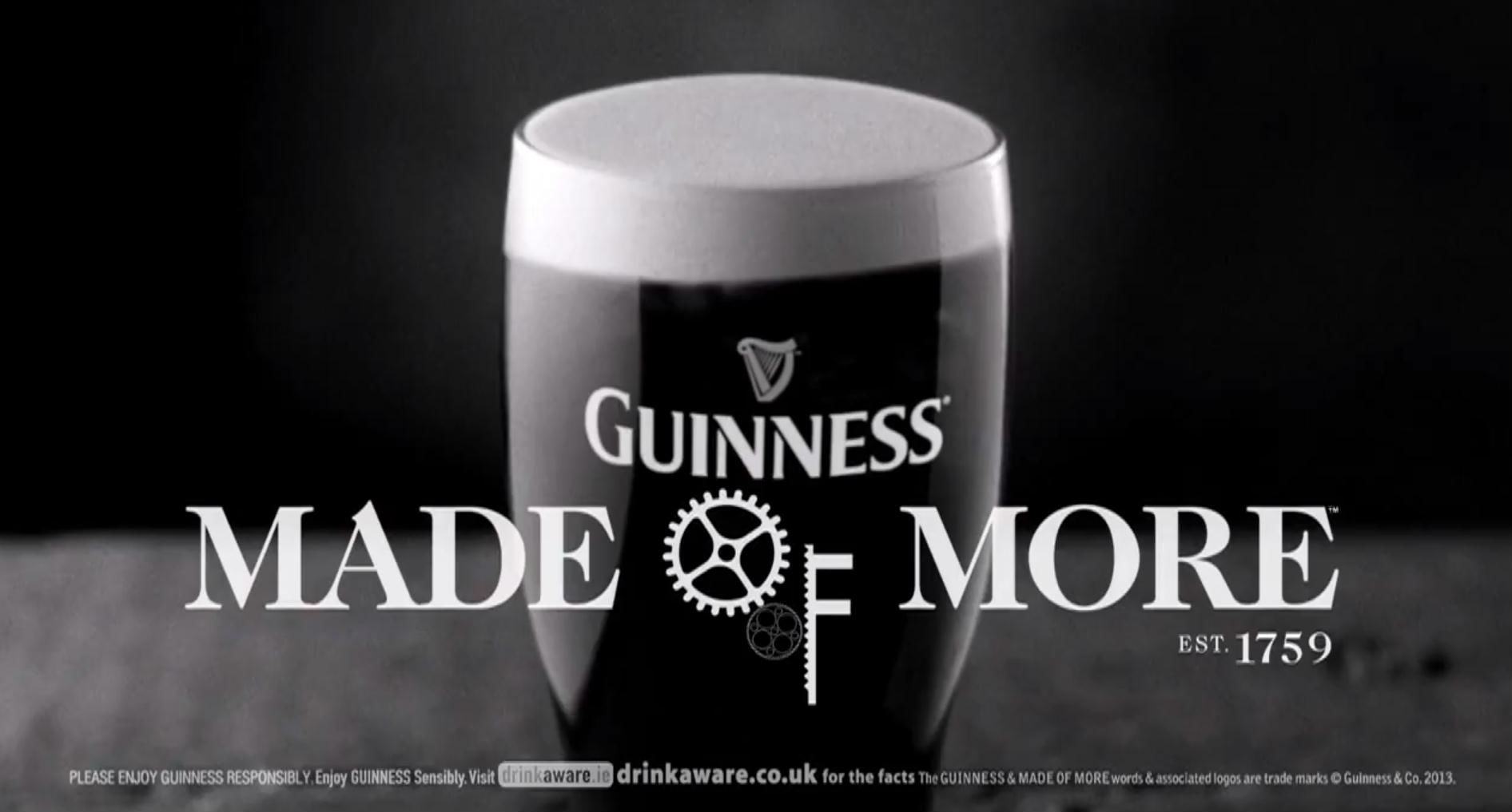 "Guinness lance sa campagne ""Made of More"""