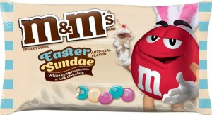 M&M's sundae pâques