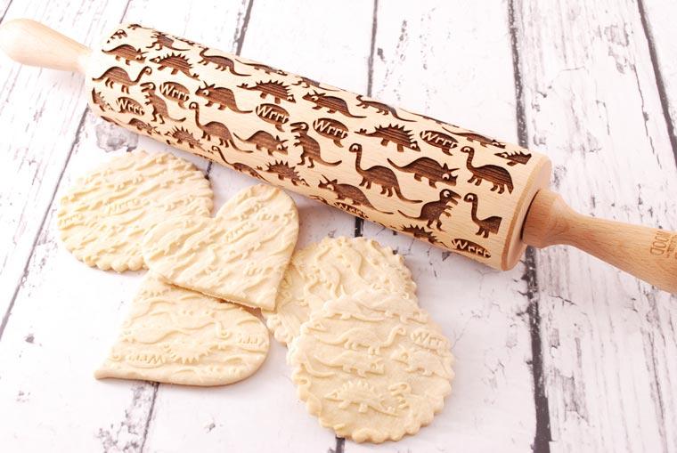Rouleau à pâtisserie pour cookies en dinosaure