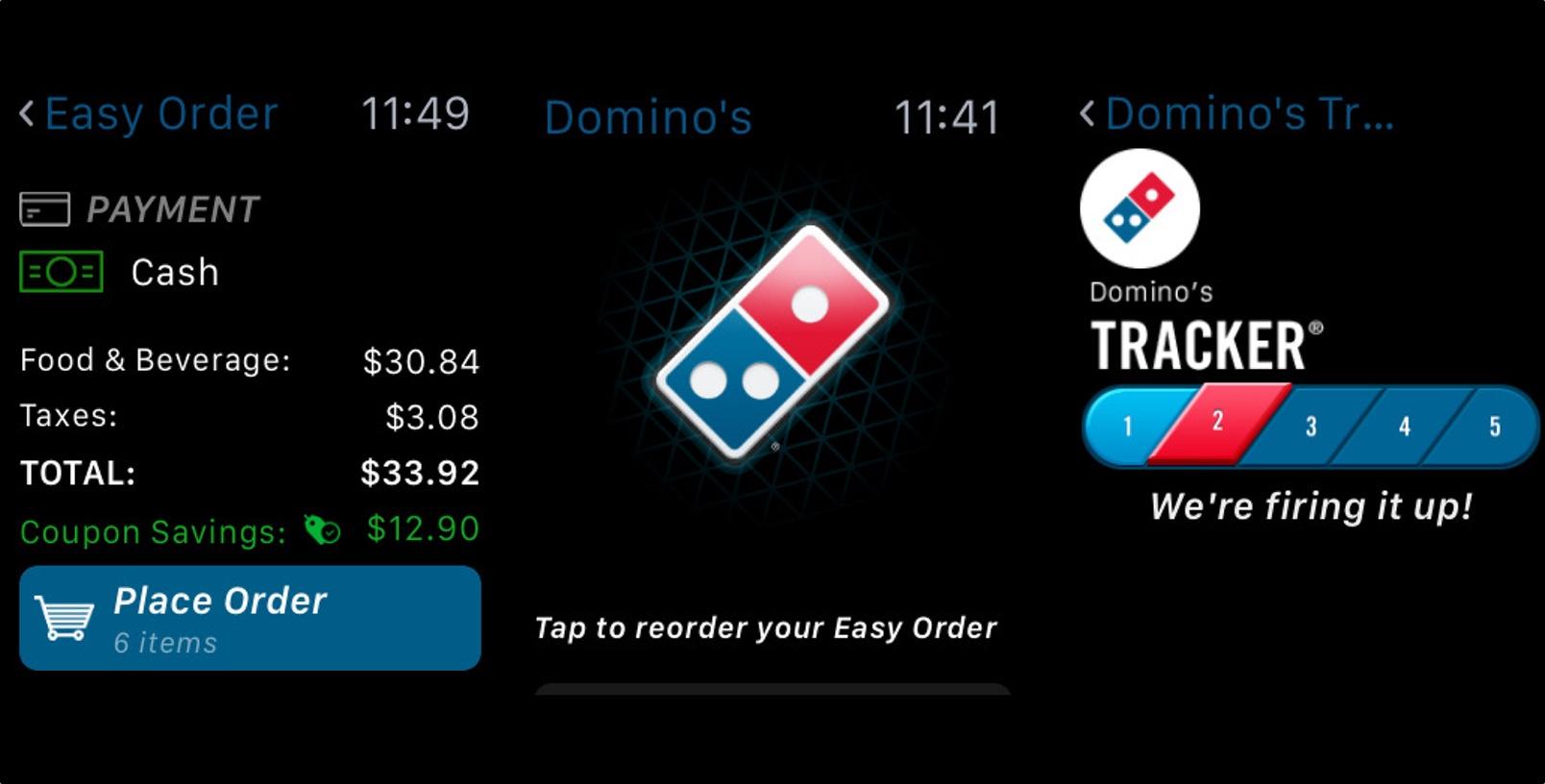 Domino's x Apple Watch