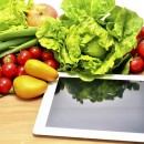 Vegetables variety and tablet computer