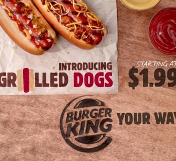 Les Grilled Dogs de Burger King