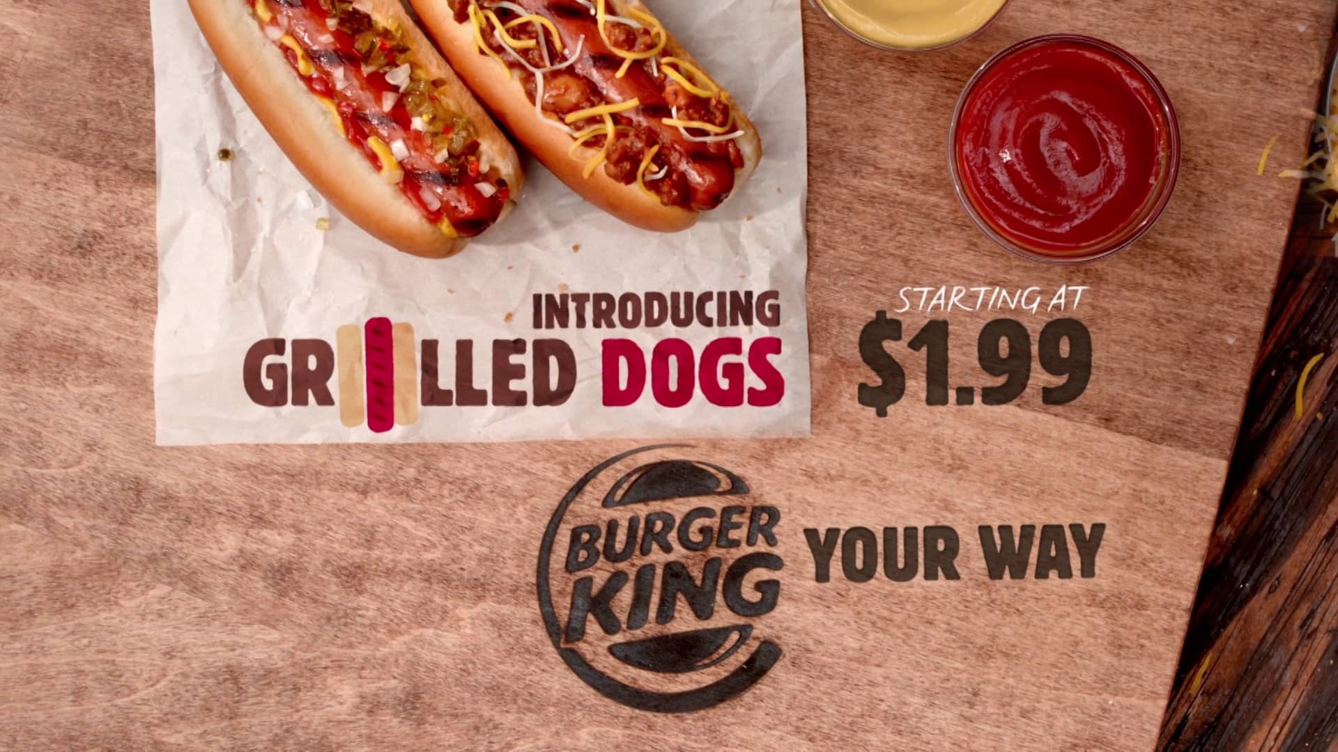 Les Grilled Dogs de Burger King