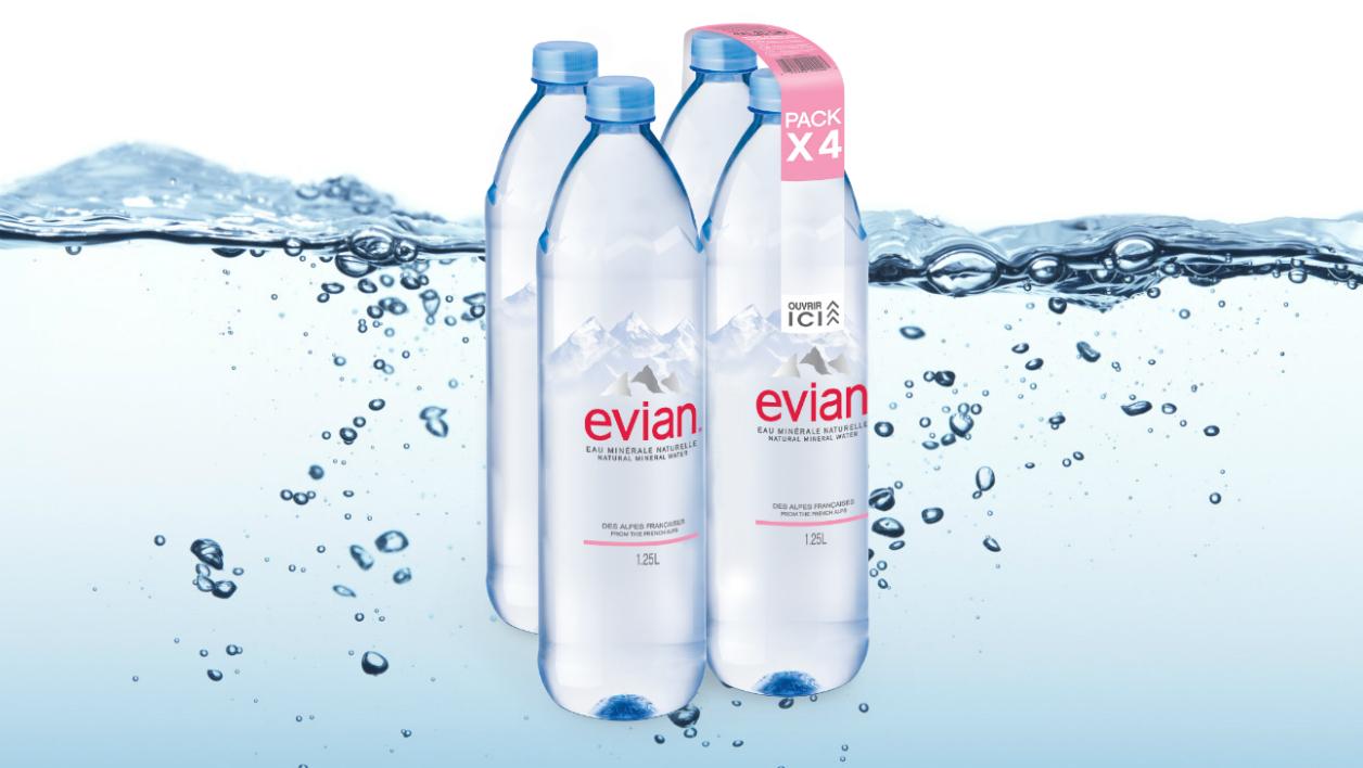 Les bouteilles innovantes d'Evian