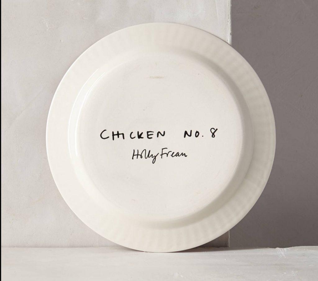 La peinture d'assiettes créatives à base de poules