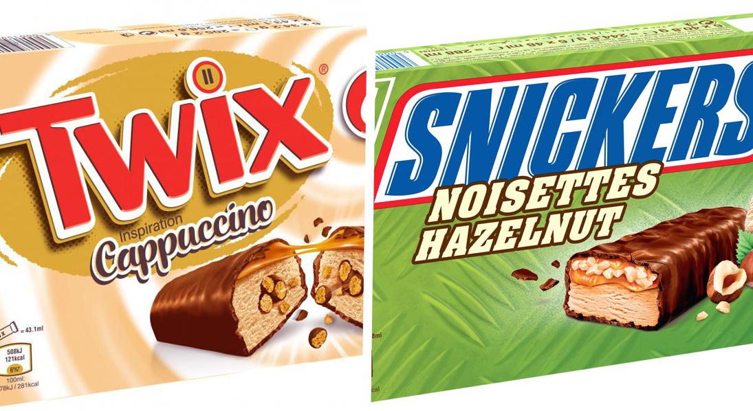 twix- snickers-glacé