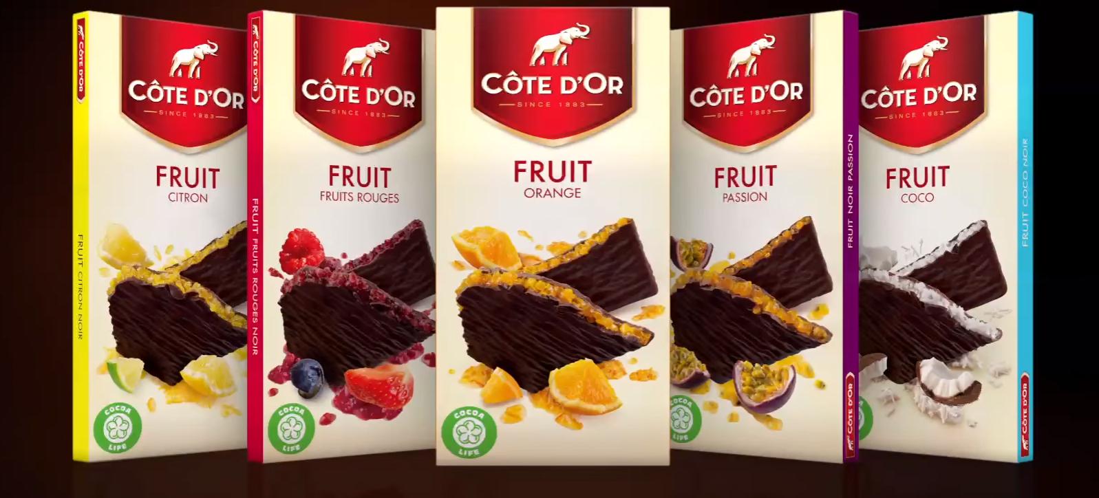 Côte d'r, le chocolat fruité