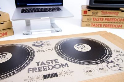 pizza hut dj pizza box