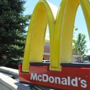 A McDonald's restaurant near the fast food giant's global headquarters in Oak Brook, Illionis is seen on July 21, 2015.
