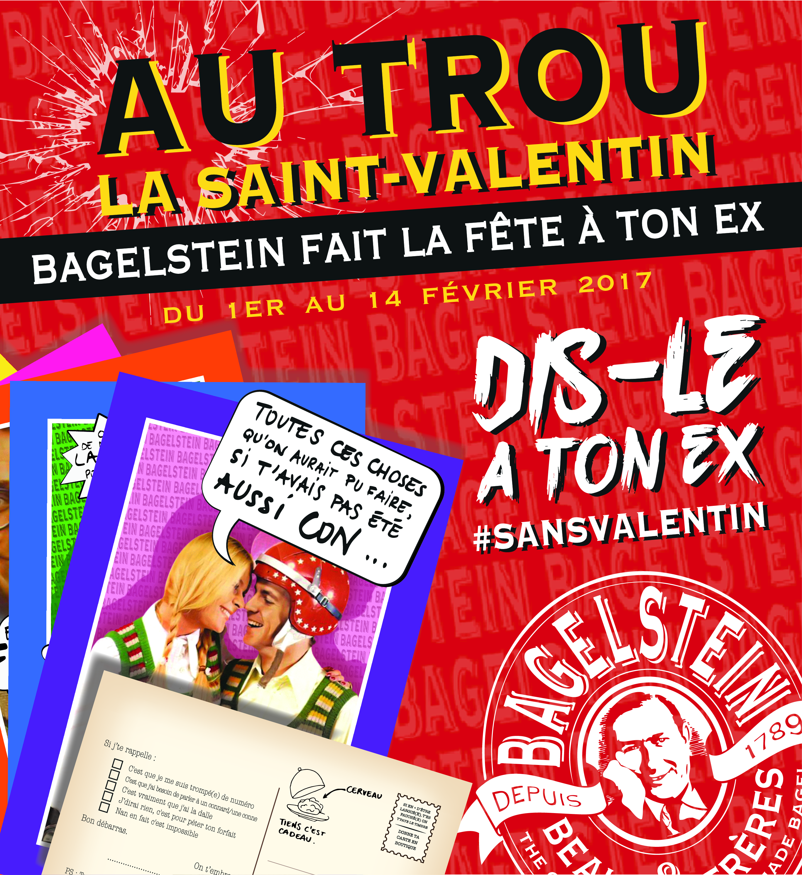 Bagelstein SansValentin Print